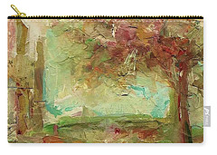Carry-all Pouch featuring the painting Villa by Mary Wolf