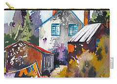 Village Life 1 Carry-all Pouch by Rae Andrews