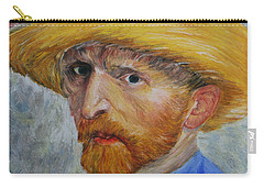 Vincent In Straw Hat Reproduction Carry-all Pouch