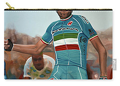 Vincenzo Nibali Painting Carry-all Pouch by Paul Meijering