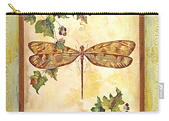 Vineyard Dragonfly Carry-all Pouch by Jean Plout