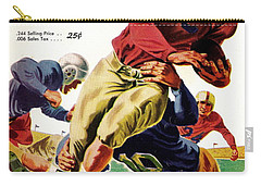 Vintage American Football Poster Carry-all Pouch