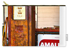 Carry-all Pouch featuring the photograph Vintage Bassett Gas Pump   by Lesa Fine