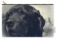 Vintage Black Lab Carry-all Pouch by Eleanor Abramson