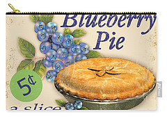 Vintage Blueberry Pie Sign Carry-all Pouch by Jean Plout