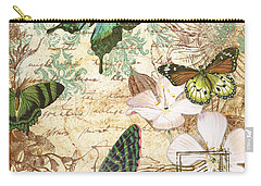 Vintage Butterfly Kisses  Carry-all Pouch by Jean Plout