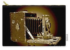 Vintage Camera In Sepia Tones Carry-all Pouch