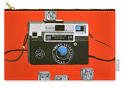 Vintage Camera With Flash Cube Carry-all Pouch by Karyn Robinson