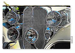 Vintage Car Art Buick Grill And Headlight Hdr Carry-all Pouch