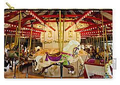 Carry-all Pouch featuring the photograph Vintage Carousel by Maria Janicki