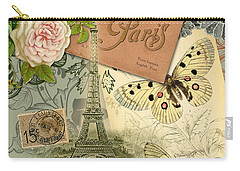 Vintage Eiffel Tower Paris France Collage Carry-all Pouch