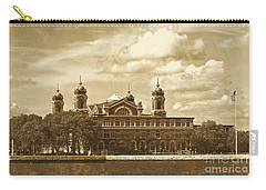 Carry-all Pouch featuring the photograph Vintage Ellis Island by Eleanor Abramson