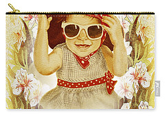 Carry-all Pouch featuring the painting Vintage Fashion Girl by Irina Sztukowski