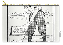 Carry-all Pouch featuring the drawing Vintage Golfer 1900 by Ira Shander