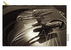 Vintage Hood Ornament - Sepia Art Decoprint Carry-all Pouch