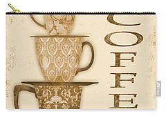 Vintage Hot Coffee Sign Carry-all Pouch by Jean Plout
