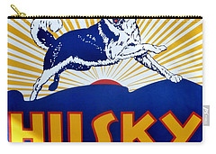 Vintage Husky Sign Carry-all Pouch by Karyn Robinson