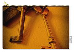 Vintage Keys Deep Antiqued Vignette Carry-all Pouch