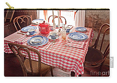 Vintage Kitchen Table Art Prints Carry-all Pouch