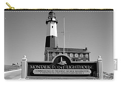 Vintage Looking Montauk Lighthouse Carry-all Pouch by John Telfer