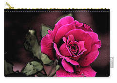 Vintage Love Rose Carry-all Pouch