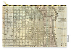 Vintage Map Of Chicago - 1857 Carry-all Pouch