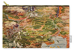 Vintage Map Of Yellowstone National Park Carry-all Pouch