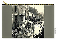 Carry-all Pouch featuring the photograph New Orleans Vintage Mardi Gras In The French Quarter Of  Louisiana  1960 by Michael Hoard