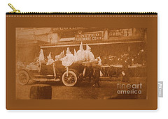 Carry-all Pouch featuring the photograph New Orleans Vintage Mardi Gras Parade On Canal Street Circa 1920's by Michael Hoard