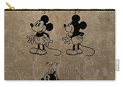Vintage Mickey Mouse Patent Carry-all Pouch