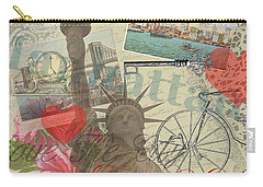 Vintage New York City Collage Carry-all Pouch