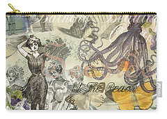 Vintage Octopus And Bathing Beauties Carry-all Pouch