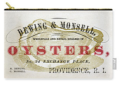 Vintage Oyster Dealers Trade Card Carry-all Pouch