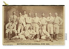 Vintage Photo Of Metropolitan Baseball Nine Team In 1882 Carry-all Pouch