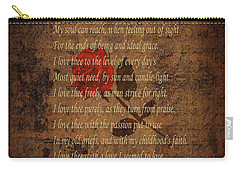 Vintage Poem 4 Carry-all Pouch