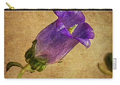 Vintage Purple Flower Carry-all Pouch