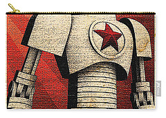 Vintage Russian Robot Poster Carry-all Pouch by R Muirhead Art