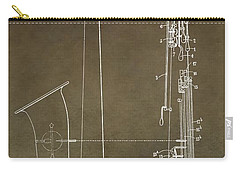 Vintage Saxophone Patent Carry-all Pouch by Dan Sproul