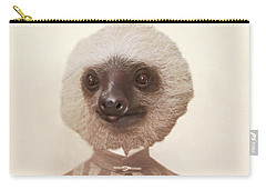 Vintage Sloth Girl Portrait Carry-all Pouch