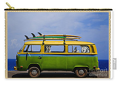 Vintage Surf Van Carry-all Pouch by Diane Diederich