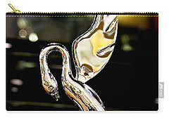 Vintage Swan Packard Hood Ornament Car Fine Art Photography Print  Carry-all Pouch