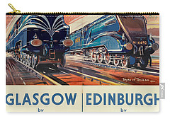 Vintage Train Travel - Glasgow And Edinburgh Carry-all Pouch