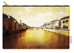Vintage View Of River Arno Carry-all Pouch