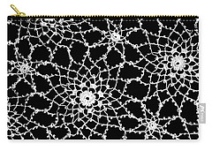 Carry-all Pouch featuring the photograph Vintage White Tatted Lace  by Sandra Foster