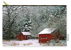 Vintage Winter Barn  Carry-all Pouch