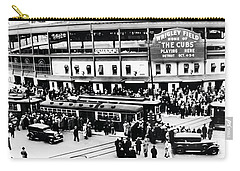 Vintage Wrigley Field Carry-all Pouch by Bill Cannon