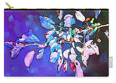 Carry-all Pouch featuring the photograph Violet Illumination by Shawna Rowe