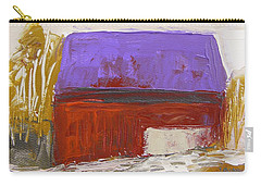 Carry-all Pouch featuring the painting Violet Roof by John Williams