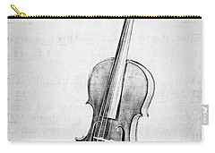 Violin In Black And White Carry-all Pouch