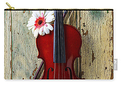 Violin On Old Door Carry-all Pouch